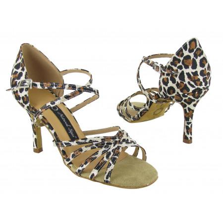 Chaussures de danse latines satin imprimé M1101-02