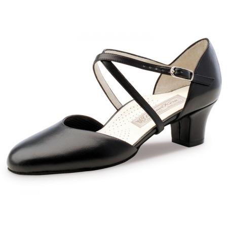 Debby Werner Kern - Chaussure de danse femme fermée en cuir nappa noir