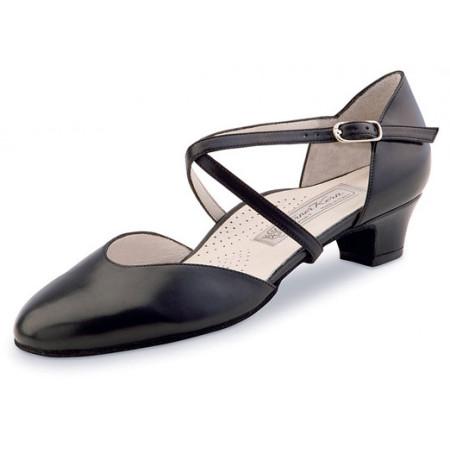 Felice Werner Kern - Chaussures de danse fermée en cuir nappa noir