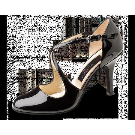 Lupe Nueva Epoca - Chaussure de danse en cuir verni semelle cuir lisse