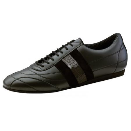 28033 Werner Kern - Baskets de danse en cuir noir pour homme