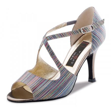 Chiara Nueva Epoca - Chaussure de danse brocart camaïeu souple