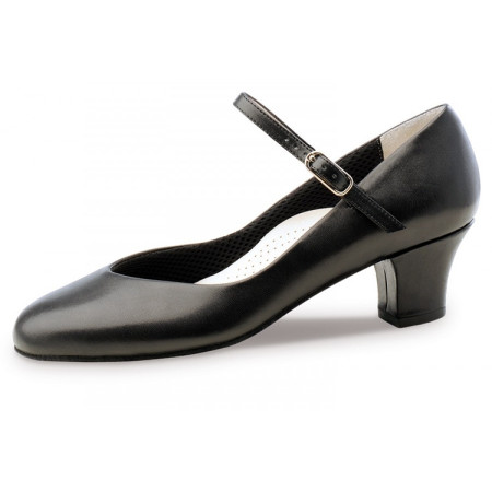 Gina Werner Kern - Chaussures de danse pour femmes en cuir noir