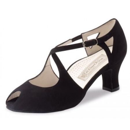Georgia Werner Kern - Chaussures de danse pour femmes en daim noir