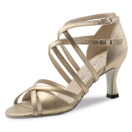 Eva Werner Kern - Chaussures de danse à lanière cuir bronze
