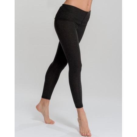 Leggings avec rabat noir matière d'origine végétale - EGOISTE - Temps Danse