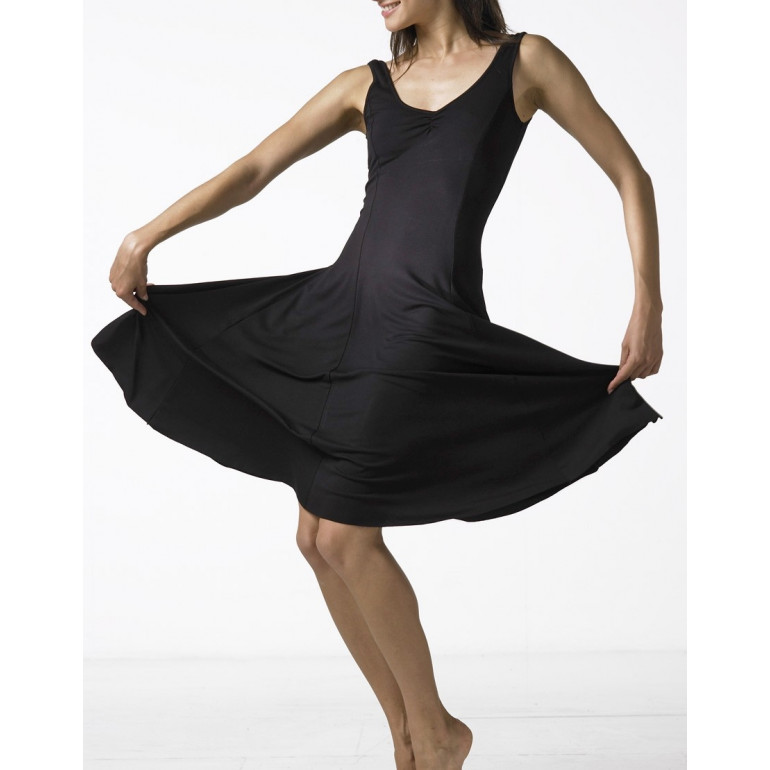 Robe de danse de salon noire - VERITABLE - Temps Danse