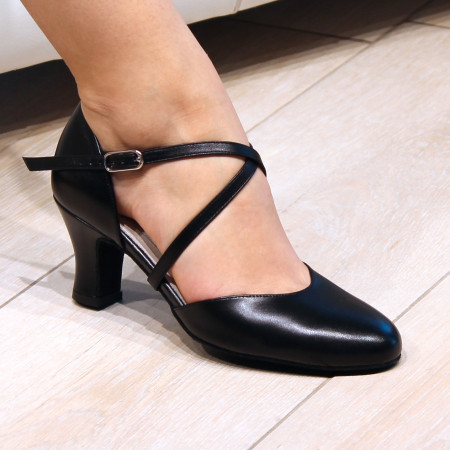 Kyra Werner Kern - Chaussures de danse pour femmes en cuir noir