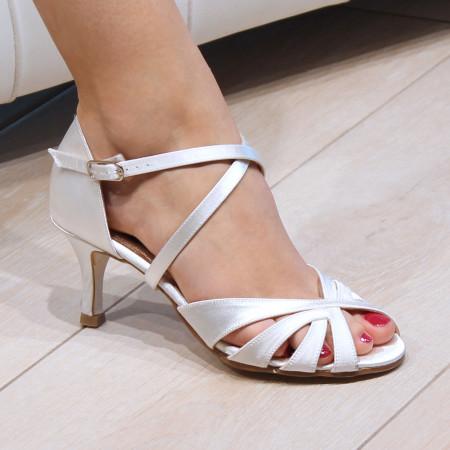 PARIS Nueva Epoca - Chaussure de danse Satin Blanc