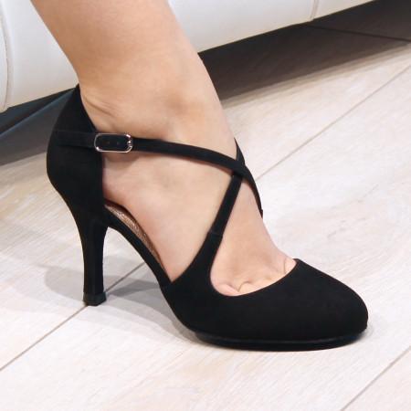 Serena Nueva Epoca - Chaussure de danse daim noir
