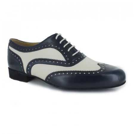 Lima Nueva Epoca - Chaussures de danse en cuir bleu et crème