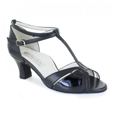 Hope Werner Kern - Chaussures de danse bride salomé et croisée en cuir noir