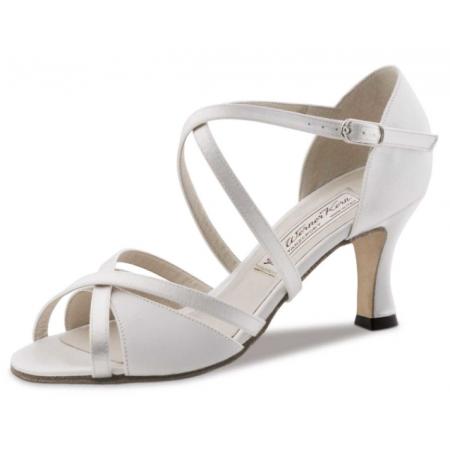 July Werner Kern - Chaussure de danse en satin blanc