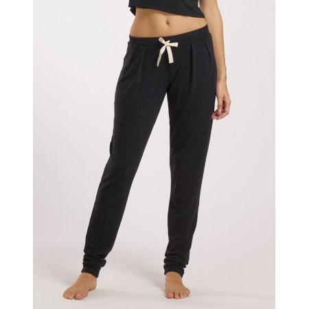 Pantalon en viscose à ceinture plate en coloris anthracite - Emeute - TempsDanse