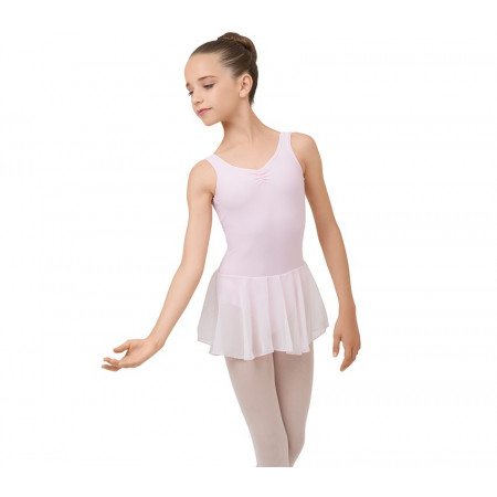 Tunique de danse à larges bretelles en coloris rose tendresse pour fille - Repetto
