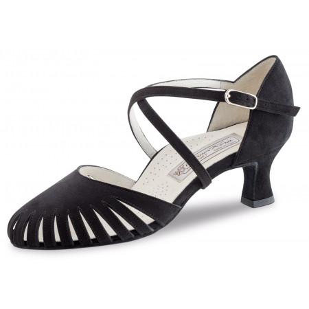 Murielle Werner Kern - Chaussures de danse fermée et bride croisée en nubuck noir