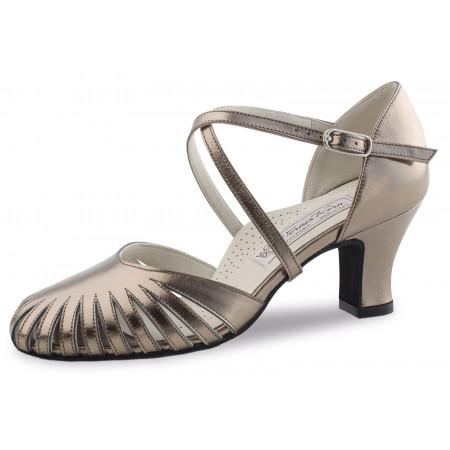 Murielle Werner Kern - Chaussures de danse fermée à doubles brides en cuir antik