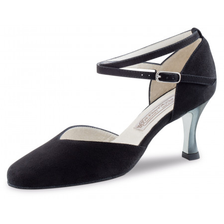 Melodie Werner Kern - Chaussure de danse fermée avec talon laqué en nubuck noir