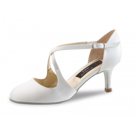 India Nueva Epoca - Chaussures de Mariage Fermée en Satin Blanc