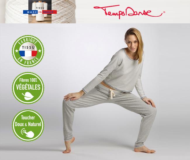 Temps Danse vêtements de danse en fibre naturelle
