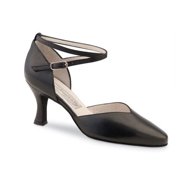 Chaussures de danse femmes de chez Werner Kern. Modèle Betty à bouts fermés. Talon : 6,5cm.