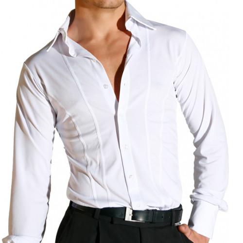 Chemises de danse pour hommes de la marque Maly Design. Idéale pour les entrainements et cours de danse latine comme standard.