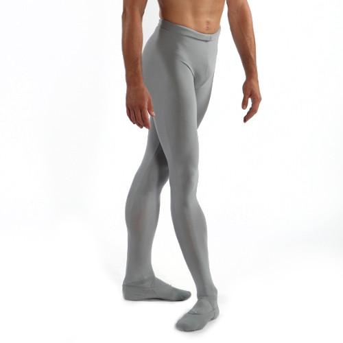 Collants de danse classique avec pieds et élastique à la ceinture pour homme de la marque Wear Moi. Modèle Solo. Coloris : gris, noir ou blanc.