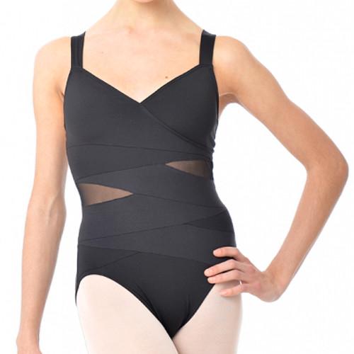 Justaucorps de danse classique pour femme de la marque Gaynor Minden. Modèle Fierce coloris noir. Bretelles croisées dans le dos.