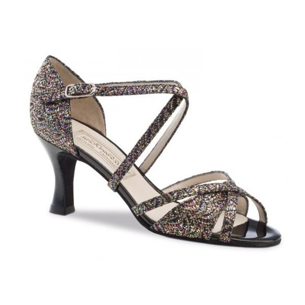 Chaussures de danse femmes de chez Werner Kern. Modèle July à brides et bouts ouverts. Talon : 6,5cm.