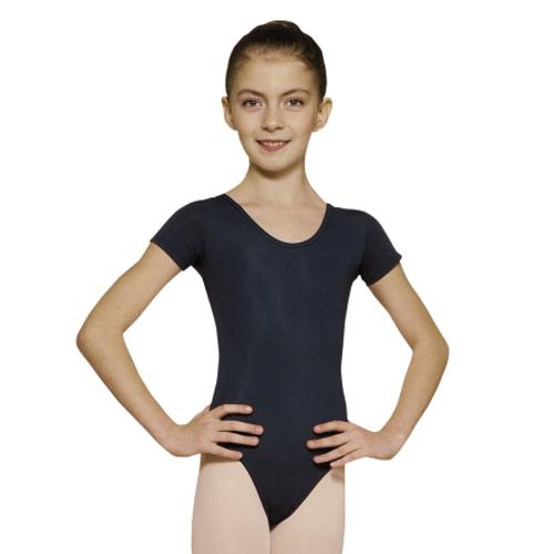 Justaucorps de danse classique pour enfants de la marque Grishko. Body de danse à manches courtes. Coloris Noir
