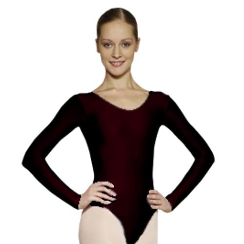 Justaucorps de danse classique pour femmes de la marque Grishko.  Body de danse en microfibres à manches longues. Coloris Noir