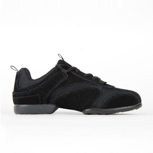 Baskets de danse style sneakers ultra souples de la marque Rumpf. Modèle Nero 1566. Existe en noir, blanc, rouge et bleu.