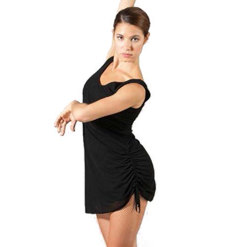 Robe courte idéale pour toutes danses latines de la marque Sheddo. Robe de danse à laçages sur le côté.