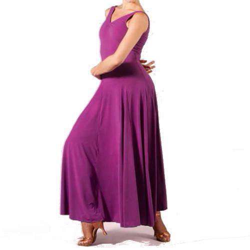 Robe longue de danse de la marqué Sheddo. Idéale pour les danses standards, robe pour danser la valse.