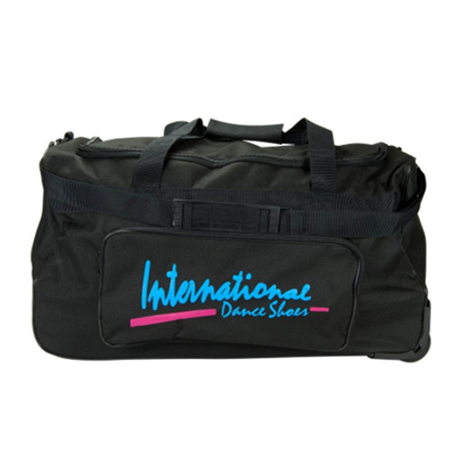 Grand sac de danse ou de sport à roulettes de la marque International Dance Shoes. Nombreuses poches de rangement.