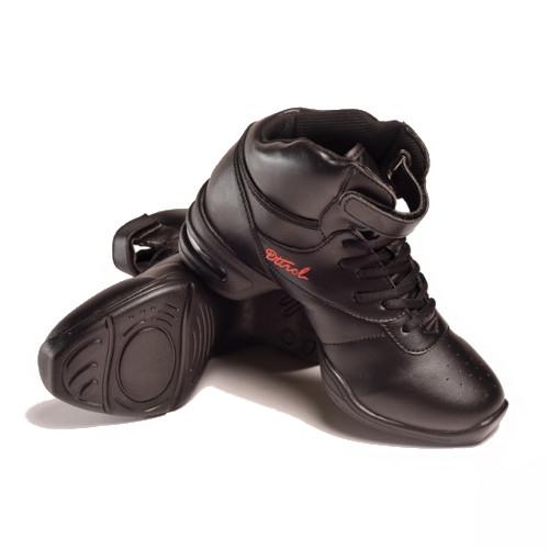 Baskets de danse type sneaker de la marque Dansez-Vous? (anciennement Dttrol). Idéal pour le jazz ou les danses street. En cuir de couleur noir.