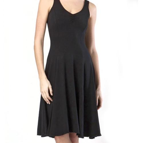 Robe de danse de salon de la marque Temps Danse. Modèle Véritable. Le vêtement idéal pour les femmes danseuses de danses latines.