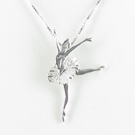 Pendentif argenté danseuse matt tutu brillant