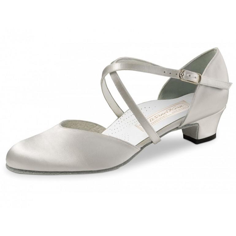 Felice Werner Kern - Chaussures de danse fermée en satin blanc