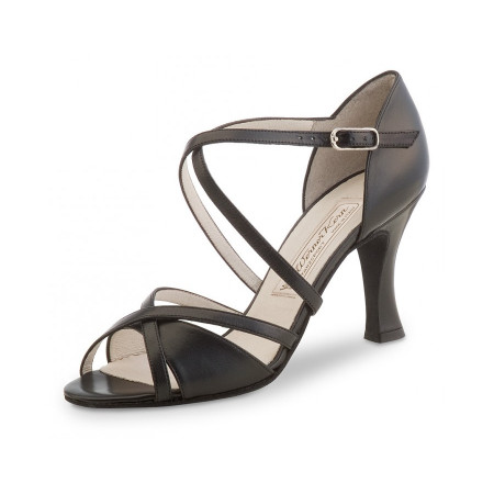 July Werner Kern - Chaussure de danse à talon évasé 8 cm en cuir noir