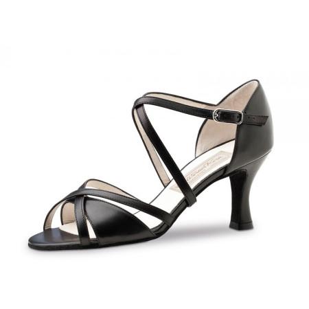 July Werner Kern - Chaussure de danse à talon évasé 6.5 cm en cuir noir