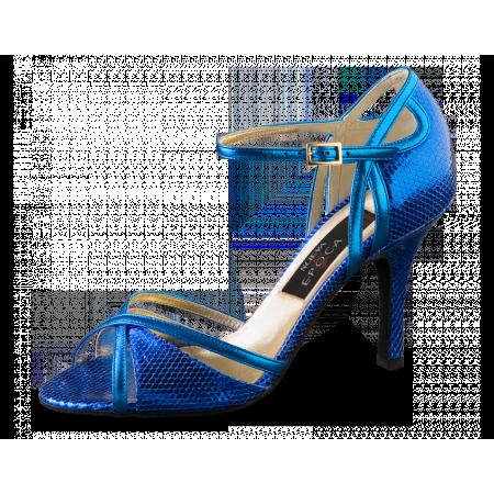 Angeles Nueva Epoca - Chaussure de salsa en cuir bleu electrique