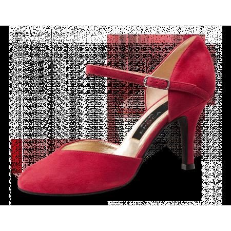 Gitana Nueva Epoca - Chaussure de danse bout fermé en suede rouge