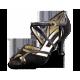 Shakira Nueva Epoca - Chaussure de salsa avec semelle en cuir lisse