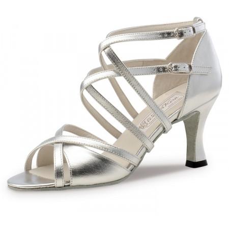 Eva Werner Kern - Chaussure de danse cuir argenté