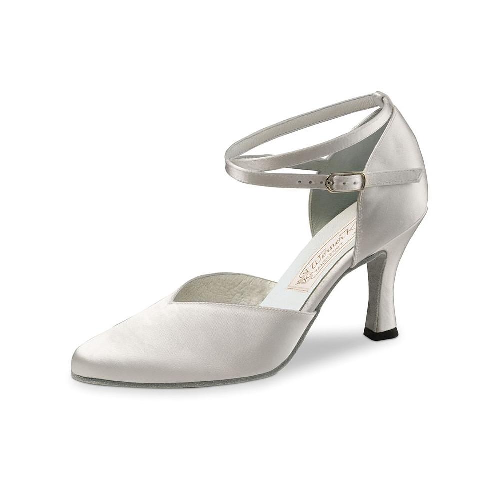 Betty Werner Kern - Chaussure de danse satin blanc