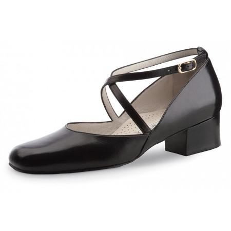 Marion Werner Kern - Chaussure de danse pour femmes en cuir noir