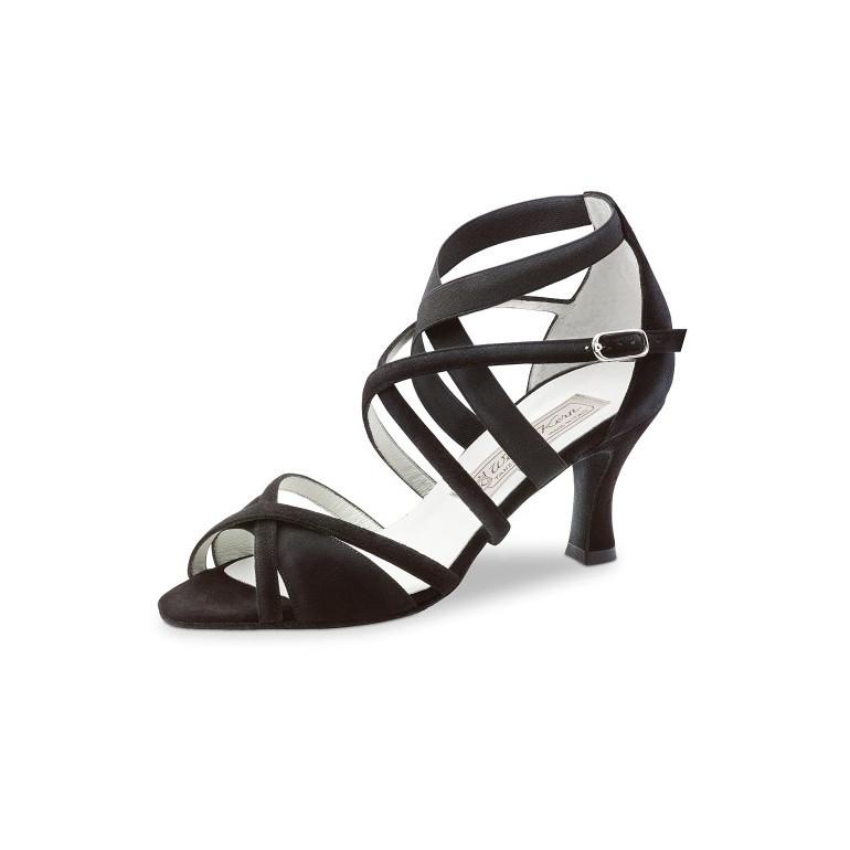 Elsa Werner Kern - Chaussures de danse pour femmes en daim noir
