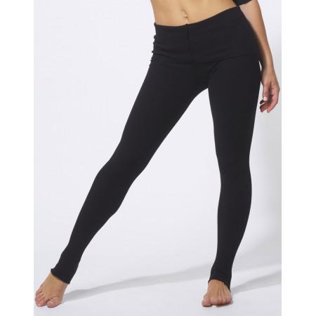 Pantalon de chauffe en maille tricot à rabat noir ultra souple - JODO - Temps Danse