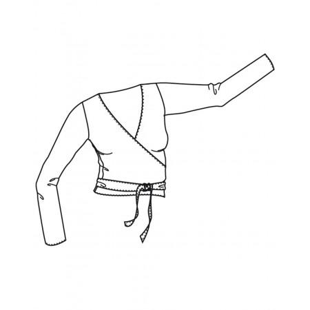 Vigueur Jr - Haut de danse type cache-coeur en viscose pour enfant - TempsDanse